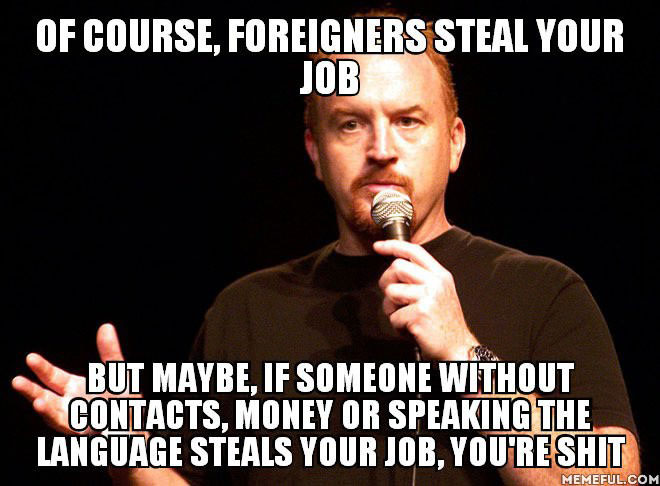foreigners steal your job